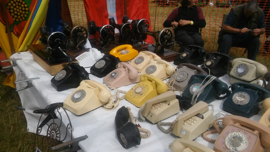 sewing machines and telephones